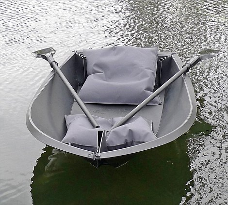 Foldboat on the water