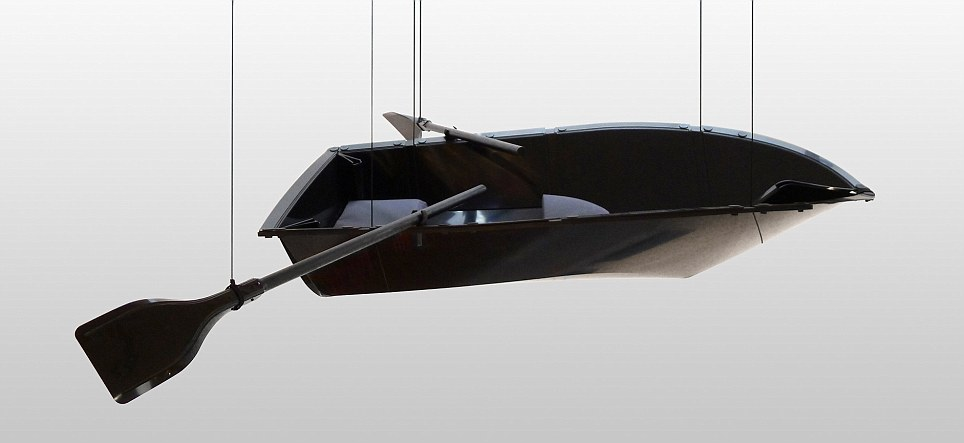 It can be transformed from a flat sheet into a working rowing boat in just two minutes, its creators claim
