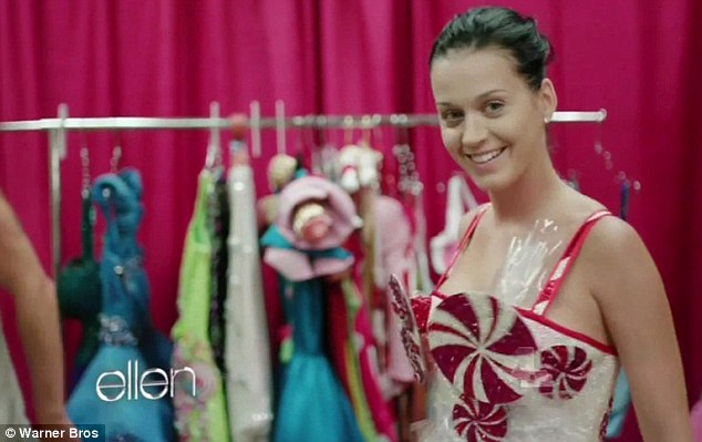 Fresh faced: Katy's new movie Part of Me shows her make-up free backstage at several of her concerts