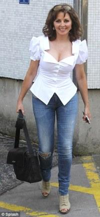 Carol Vorderman arrives at work looking tired but leaves ...