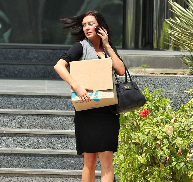 Rebecca Blake outside the Dubai Court Embarrassing: Rebecca Blake has said how difficult it was to tell her parents of the charges  The recruitment consultant was accused of having sex in the back of a taxi with her friend Conor McRedmond 28, from Tullamore, Co. Offaly and they spent a year fighting the allegations.  Fired: A tearful Miss Blake emerges from the building, carrying a box under her arm