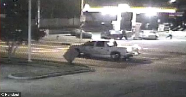 The white pick up van appears in one of the surveillance cameras footage driving by where Michaela 'Mickey' Shunick had just passed