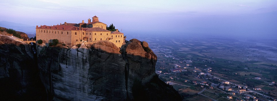 Panoramic: The monastery of St Stephen, part of the Meteora complex in Greece, was built in the middle of 16th and decorated in or around 1545
