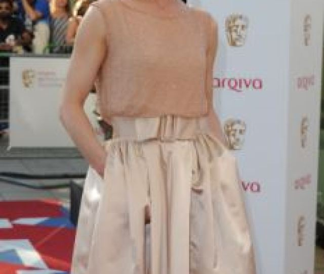 More Champagne Emilia Fox And Sheridan Smith Also Wore Pale Beige Dresses To The Bafta