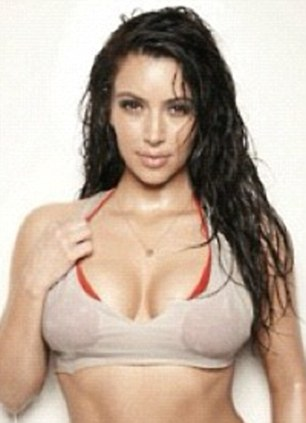 Sexier than ever: Kim is no stranger to showing off her stunning curves in glamorous photoshoots