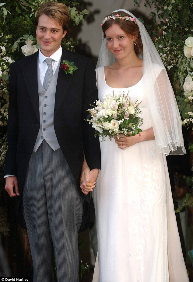 Starting out: Ben and Kate at their 2003 wedding in Bury St Edmunds, Suffolk