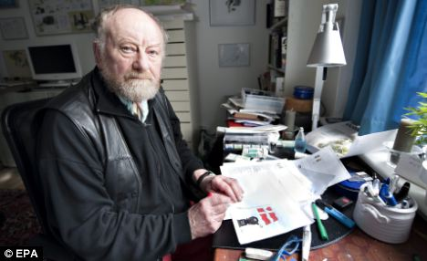 Retired: Danish newspaper cartoonist Kurt Westergaard, who drew the controversial caricatures, remains under constant protection