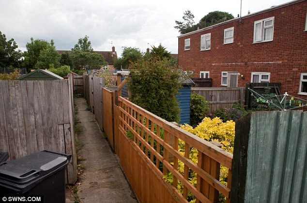Scene: An alleyway behind Swanage Walk in Swindon, where the attack happened last week