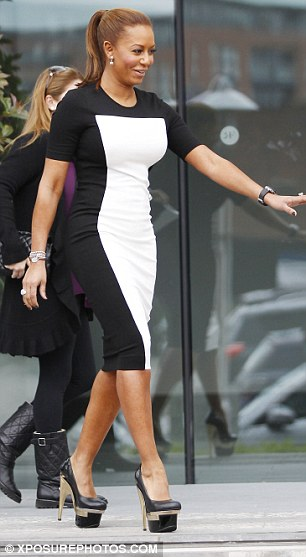 X Factor 2012 Mel B Teeters Precariously On Ridiculously