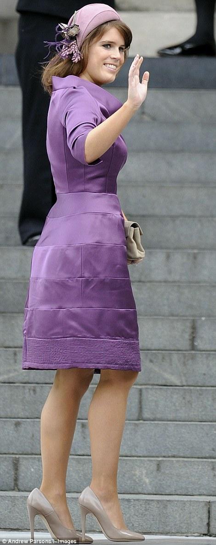 Princess Eugine arrives at St Pauls Cathedral