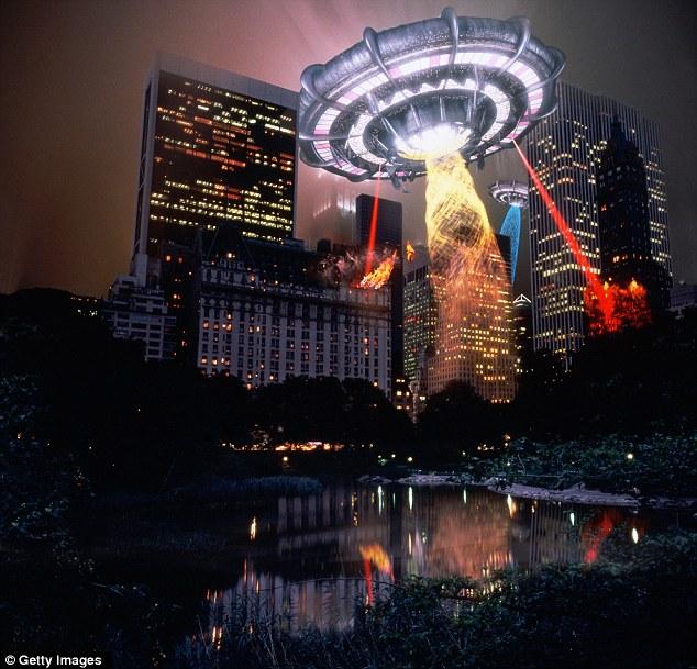 Espero que nunca pode ter que informar sobre qualquer coisa como isto ... Um OVNI assume Los Angeles neste mock-up