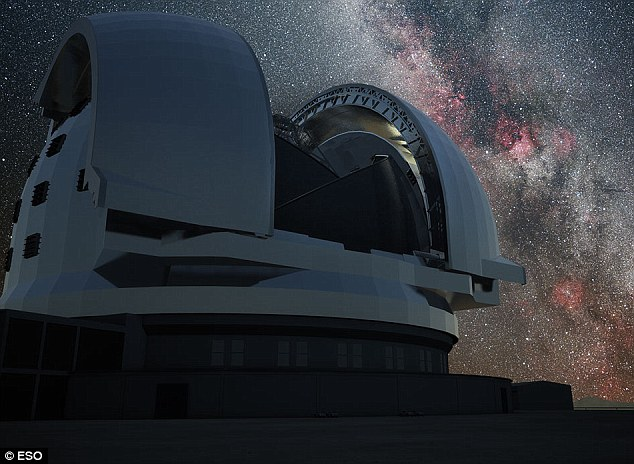 Another artist's impression shows the Milky Way gleaming behind the telescope, which will hopefully help astronauts observe exo-solar system planets