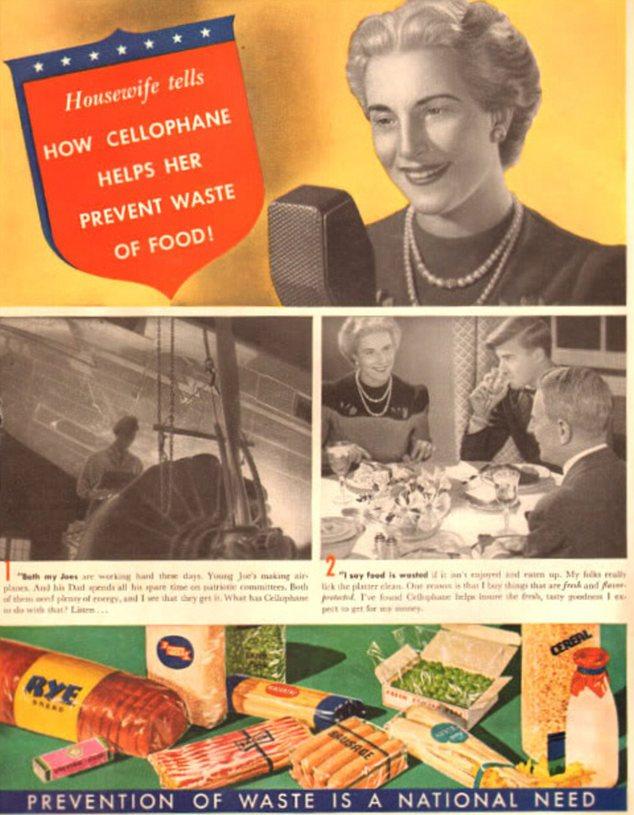 """Personal: Este anuncio utiliza un ama de casa 'en la vida real """"para promover la demanda de celofán para reducir los residuos de alimentos"""