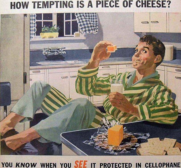 Appetising?  Al parecer, los estadounidenses del pasado en realidad prefiere la comida para ser envuelto en plástico