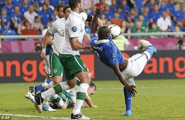 Settler: Balotelli doubles Italy's lead late on