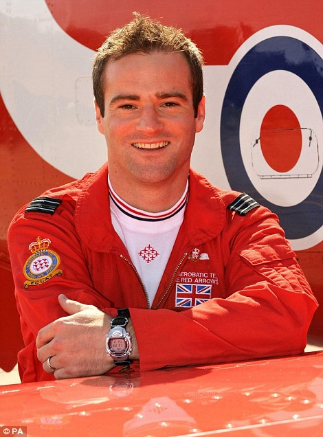 Flight Lieutenant Jon Egging, a Red Arrows pilot who died when his plane crashed following an air show near Bournemouth Airport in Dorset on August 20