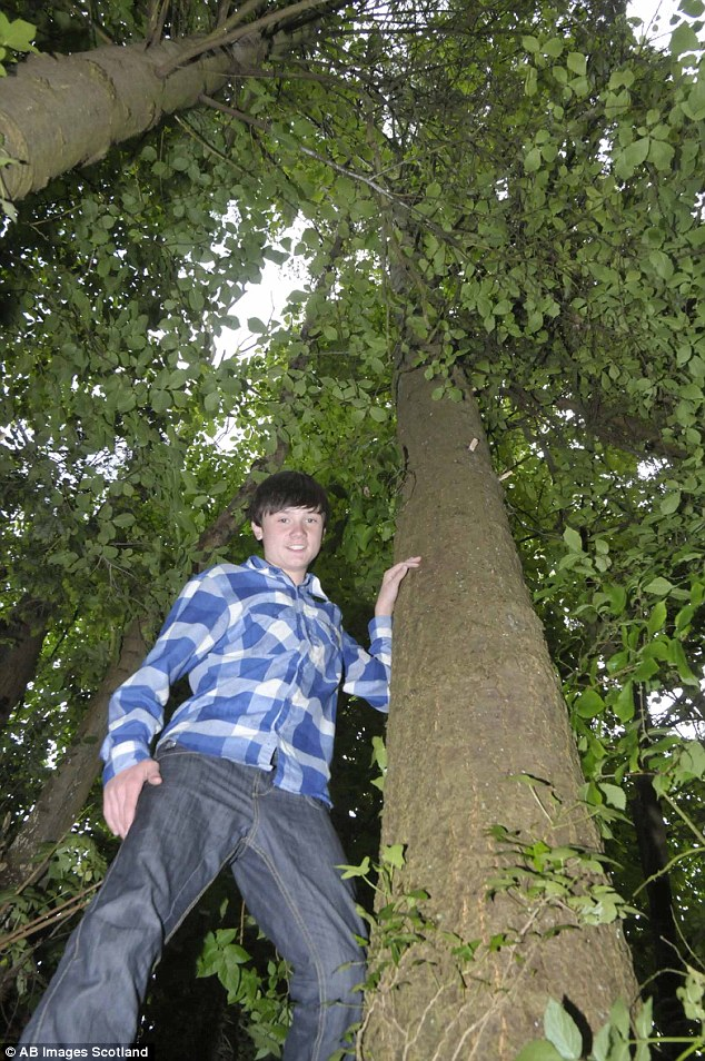The 15-year-old from nearby Chirnside village bravely rescued the cat from the top of a tree. His mum said she would have never put him at risk if she believed he could have hurt himself
