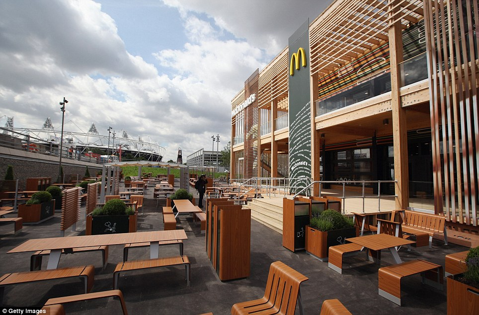 Bigger Mac: An exterior view of the world's largest McDonald's restaurant, their flagship outlet in the Olympic Park
