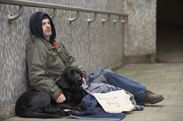 Image result for homeless ex soldier