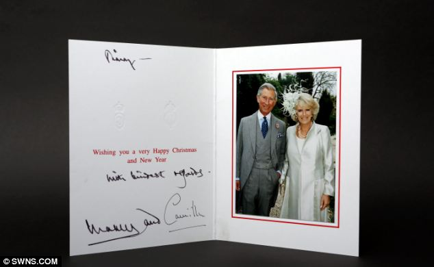 Seasons past: Christmas card from Prince Charles and Camilla Duchess of Cornwall