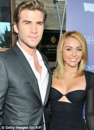 Liam Hemsworth and Miley Cyrus arrive at Australians In Film Awards & Benefit Dinner