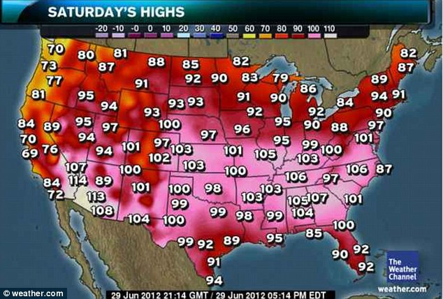 Scorcher: Saturday's temperatures are forecast to stay high