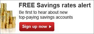 savings rates alerts