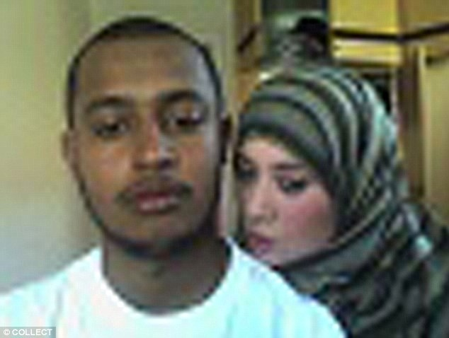 Suspect Samantha Lewthwaite, pictured with a man who is thought to be fellow Briton Habib Ghani