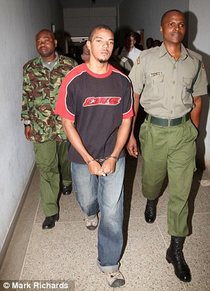 Jermain Grant, pictured being taken from his cell to the courtroom in Nairobi