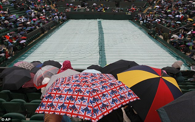 Wimbledon's just one of a number of major events ruined by the wet weather, including Ascot, Henley and the Jubilee