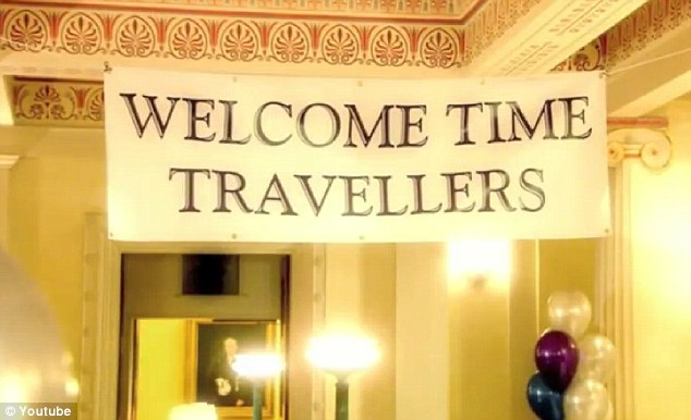 This was Stephen Hawking's attempt to welcome time travellers - but perhaps the guests just thought it felt so 2009