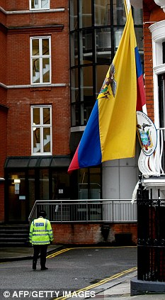 The Ecuadorian Embassy in London, where Assange is reportedly sleeping on a blow up mattress