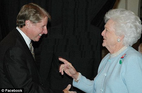 Russell R. Wasendorf Sr with Barbara Bush: PFGBest, a 20-year old broker of foreign exchange and commodity futures, told customers their accounts had been frozen
