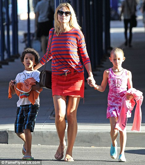 Spots And Stripes Heidi Klum And Her Daughter Lou Sulola