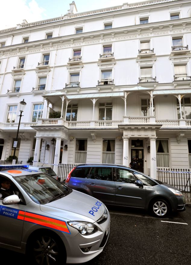 Security staff were called in to help download CCTV cameras from the Security staff were called in to help download CCTV cameras from the Chelsea mansion and surrounding area. Today the scene was cordoned off