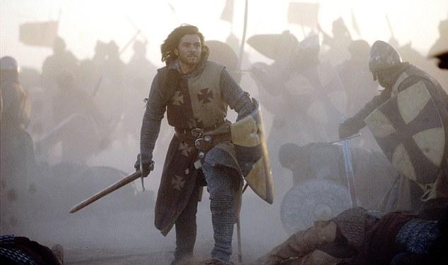 Orlando Bloom portrays a Crusader in Ridley Scott's Kingdom of Heaven