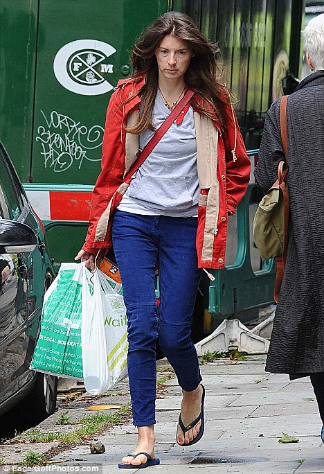 Jools Oliver Looks Miserable As She Heads Home From The Shops After Her Paranoia Revelation