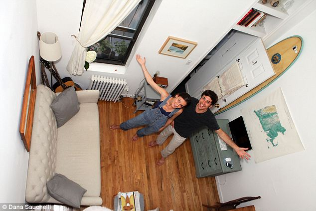The NY couple making it work in a 240 square foot studio