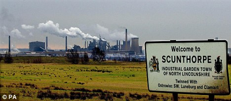 Last May India's Tata Steel, which took over The Corus Steelworks in Scunthorpe, announced 1,500 job cuts in the UK