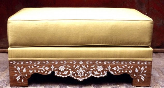 Asma Assad spent £270,000 on furniture from the exclusive West London shop, including items similar this ottoman