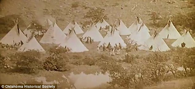 Going native: The Daughter Of Dawn featured an all-American Indian cast and was shot in the Wichita Mountains of south west Oklahoma in July 1920