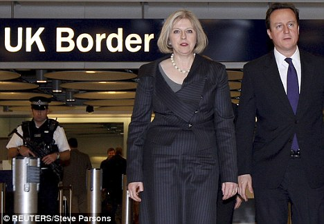 Sabotage: Theresa May has written an open letter to border staff urging them to defy the walkout and 'do what their country needs'