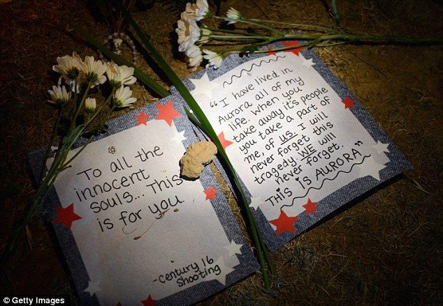 Someone who has grown up in Aurora leaves a note expressing their sorrow for the victims of the massacre