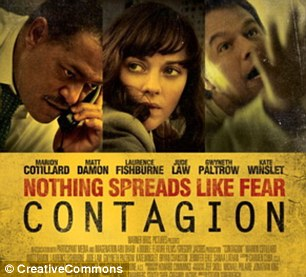 Contagion: The 2011 medical disaster movie focuses on the threat posed by a deadly virus that spreads around the globe from one person to the next