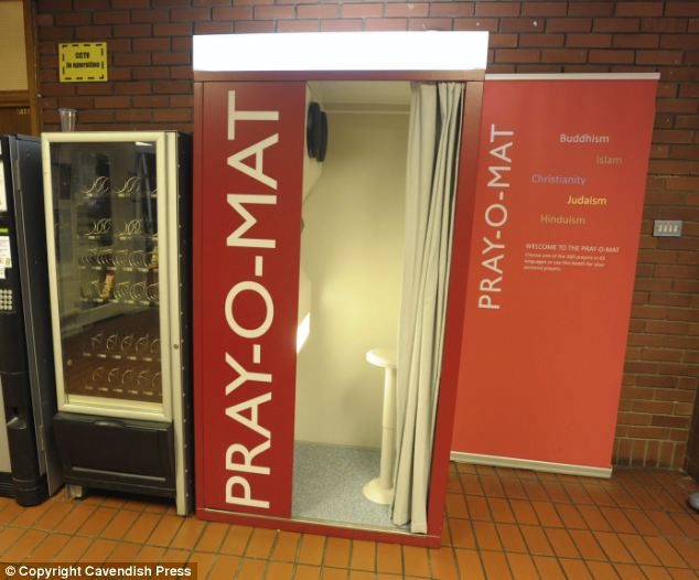 After Choosing A Blessing People Can Then Pick Up A Snack At The Vending Machine