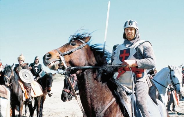 Famous battles: The Christian king took on the Muslim Sultan Saladin for control of Jerusalem and the coastal region to its north. Pictured, Channel 4 programme Lionheart
