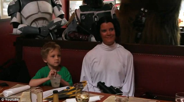 Homecoming Soldier Surprises 5 Year Old Son And Star Wars Fan Beneath Jedi Knight Costume