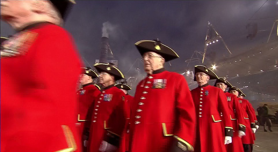 They were joined by real Chelsea Pensioners