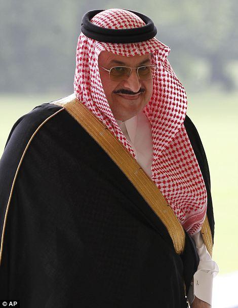 Saudi Arabia's Prince Mohammed bin Nawaf Al Saud arrives