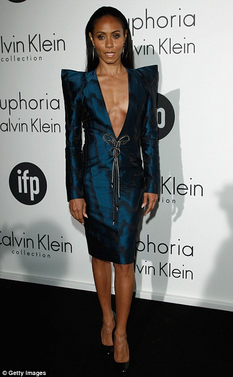 Super-toned: Jada on the red carpet at the Cannes Film Festival earlier this year